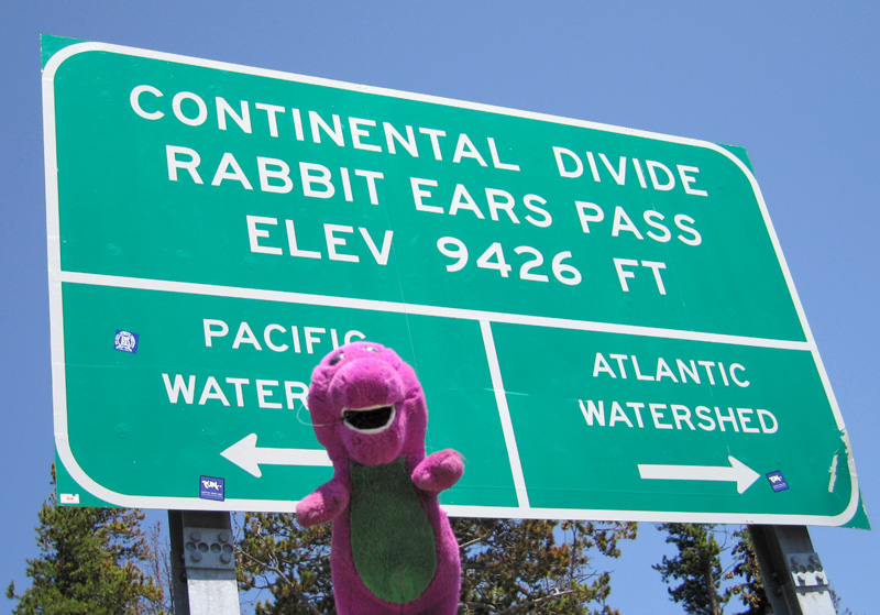 Continental Divide Barney