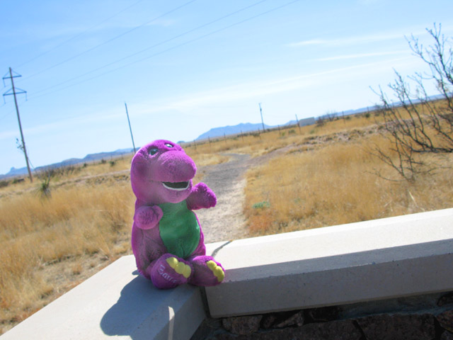 Barney at Marfa Lights Viewing Area